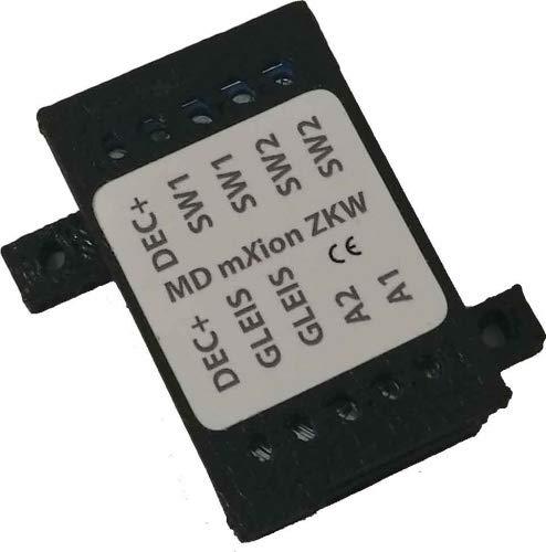 MDelectronics MD ZKW DCC - 2-Kanal-Weichendecoder + 2 Funktionsausgänge, 3-Weg-Weichen-Modus