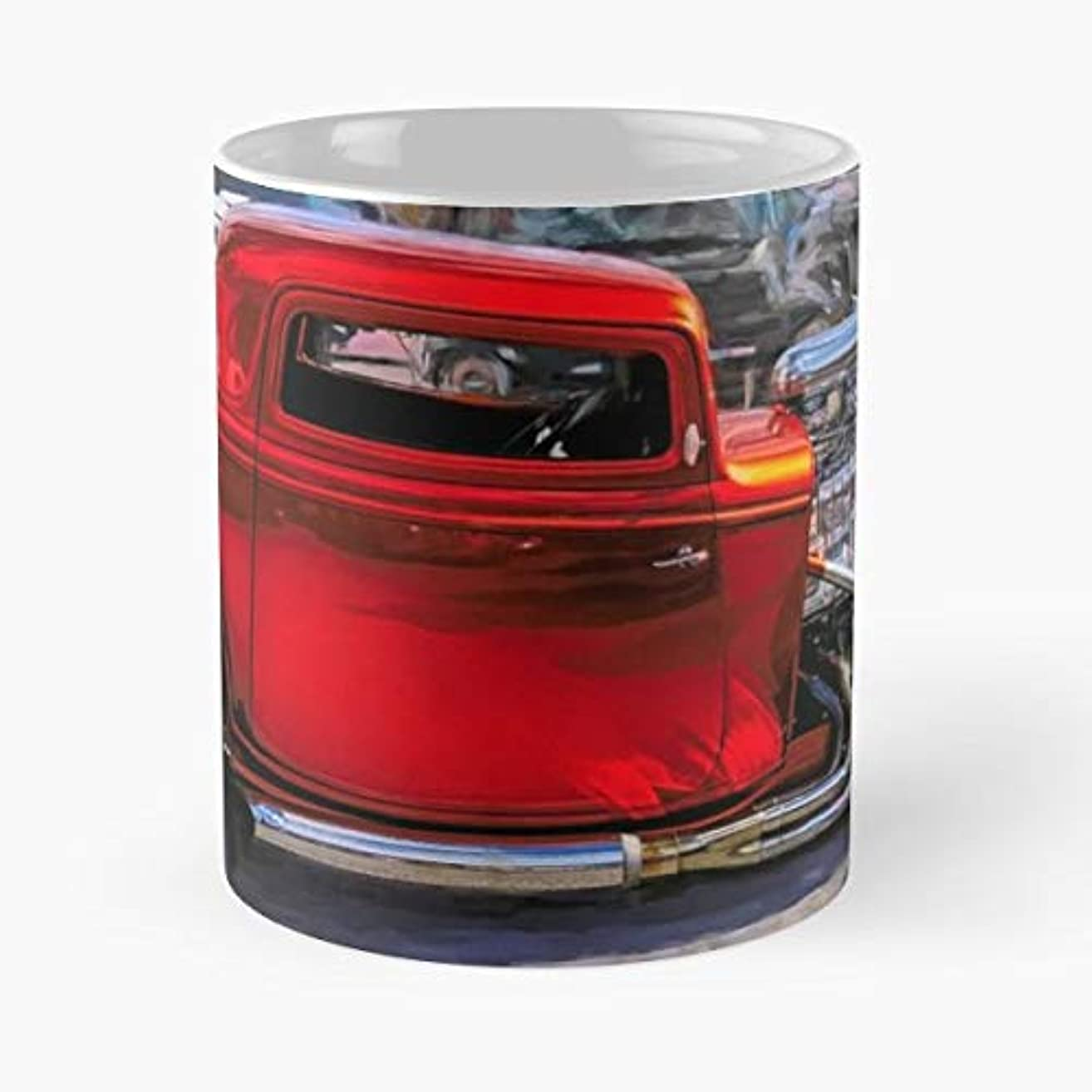 Hot Rod 1932 Ford Three Window 3-11 Oz White -coffee Mug- Unique Birthday Gift-the Best Gift For Holidays.