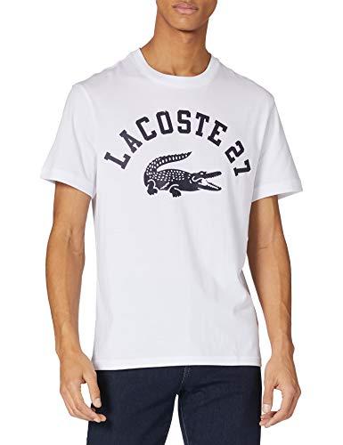 Lacoste TH0061 Camiseta, Blanc, L para Hombre