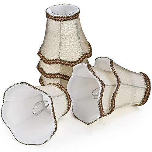 Lampenschirme 6er Set E14 E27 Kerzenbirnen für Kronleuchter Pendellampe Wandleuchte Hängelampe Lampenschirm