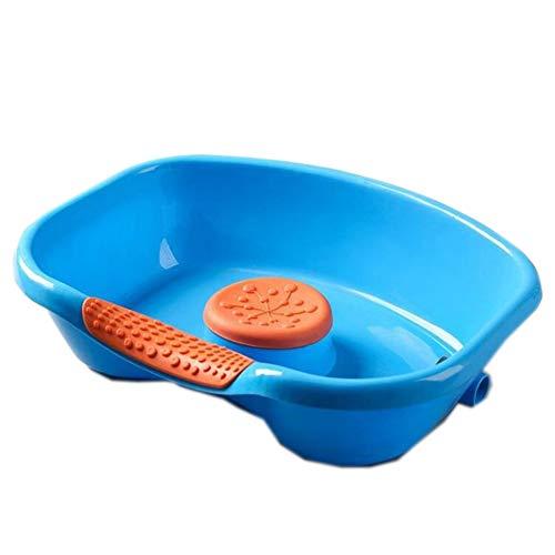 Huachaoxiang Haar-Waschbecken, Tragbarer Shampoo Schüssel Tray Shampoo Basin Verwendung Im Bett Haarwäsche Schnitte Haarfärbung Behinderte Bettlägerig Behinderte,Blau