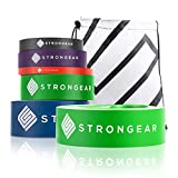 STRONGEAR Premium Fitnessband mit Tasche und Trainingsanleitung PDF - Gymnastikband, Theraband, Loop...