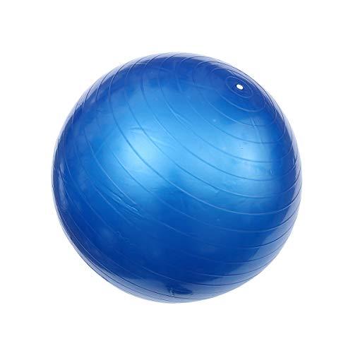 ABOOFAN Bola auxiliar de pilates de 800 g para yoga y pilates de PVC, a prueba de explosiones, bola de equilibrio flexible para entrenamiento de estabilidad, gimnasio (65 cm, azul)