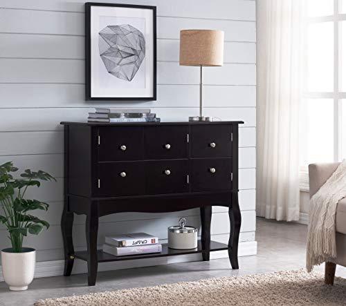 Kings Brand Furniture - Stanzione Sideboard Buffet Cabinet, Console Table, Espresso