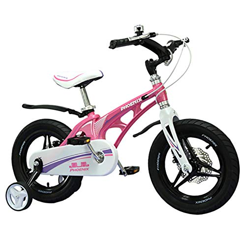 Sharesun Kinderfiets met wielen voor 12 fietsen, 14 inch, schijfrem vooraan, inklapbaar, voor kinderen van 2 tot 6 jaar, jongens en meisjes