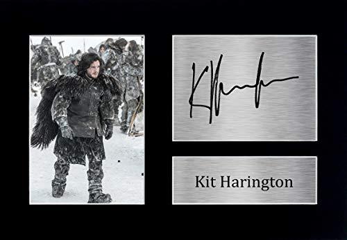 HWC Trading Kit Harington A4 Sin Marco Regalo De Visualización De Fotos De Impresión De Imagen Impresa Autógrafo Firmado por Game of Thrones Ventiladores De Programa De TV