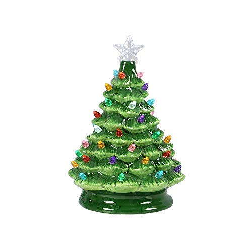 youngs Ceramic Vintage LED Table Top Christmas Tree