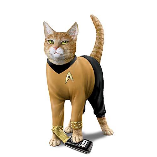 The Hamilton Collection Star Trek Cat-Tain Kirk Hand-Painted Cat Figurine