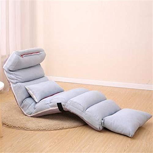 ZXAZBHD Reposapiés Sofá Lazy Sofa Chair Sofá con Estilo Sofá Camas Lounge Lounge W/Almohada / (Gris, Verde, Rojo) Pasillo de la Sala (Color : Gray, Size : 205cm)