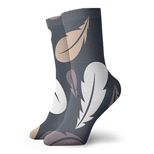 Be-ryl Persönliche Socken aus weißen, gelben und braunen Federn, für Wärme, Anti-Verschleiß-Socken