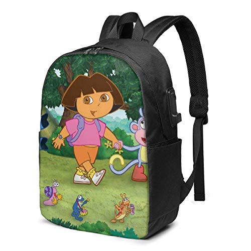 Do_Ra The Ex_Plorer 3D Printing Anime/Cartoon Backpack,Unisex Fashion Shoulder Rucksack Laptop Travel Bag.Student Children's Personalized School Bags, Meal Bags