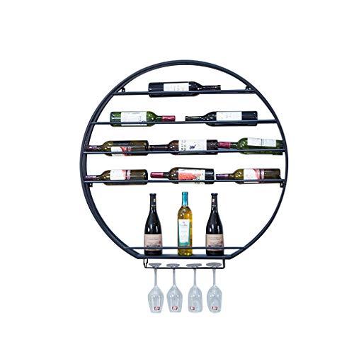 Zelfs aan de muur gemonteerde industrieel-stijl 4 wijnglazen metalen houder, 4-Tier drijvende wijn en drank rek, eenvoudige wijnkast