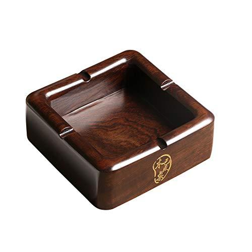 Yuyaxpb draagbare asbak, massief hout asbak, modern binnen tafel of buiten, voor rookoven, kantoor, rookoven
