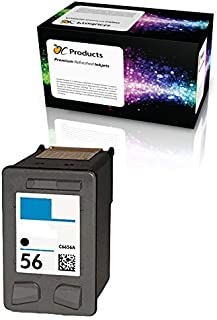 OCProducts Refilled HP 56 Ink Cartridge Replacement for HP PSC 1315 PSC 2410 PSC 1110 PSC 2175 Officejet 6110 Deskjet 450 PhotoSmart 7150 7260 Printers (1 Black)