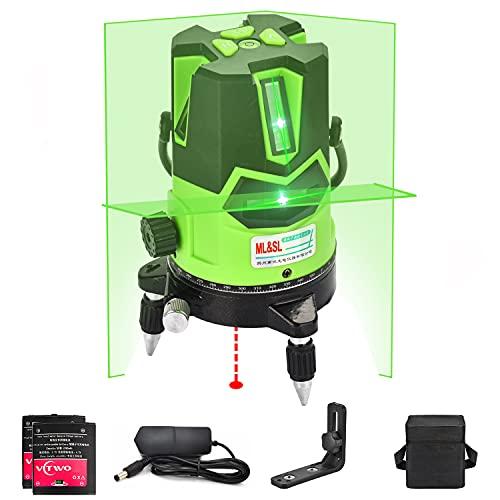 Nivel láser de haz verde 3D- nivel láser autonivelante Línea de cruce vertical...