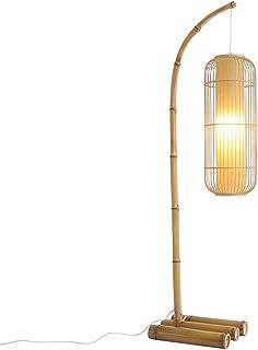 DIEFMJ Lampadaire Nouveau Style Chinois Salon Chambre Bambou Tissé Lampe De Pêche Rétro Lampadaire Lampe Japonais Zen Salo...