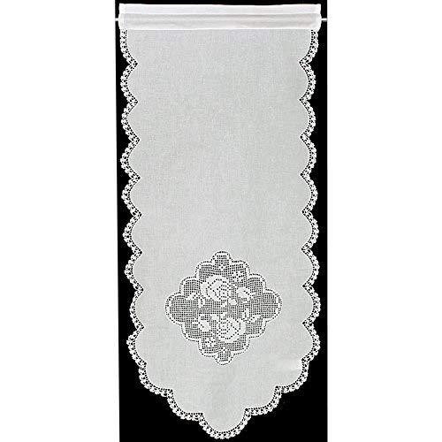 Hossner Fensterdeko Gardine 75x40 cm H/B | weiß | 100% Baumwolle
