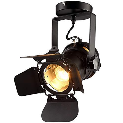Hobaca® E27 L31 * W17 * H35cm Loft Hierro industrial Manchas de techo negras Focos faretti led Luces de techo vintage downlights Luces de la sala Iluminación del hogar