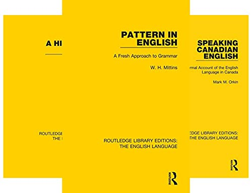 Routledge Library Editions: The English Language (29 Book Series)