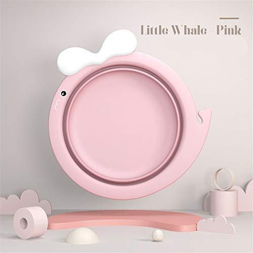 2 Pack 3 Pack baby producten inklapbare wastafel wassen voeten Cartoon schattig baby kleine wastafel wastafel multifunctionele kleine bad roze