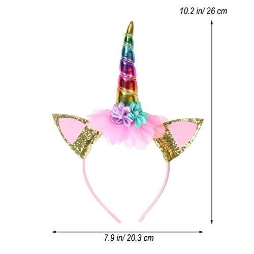 Lurrose Eenhoorn hoofdband voor kinderen, unicorn, handgemaakt, voor verjaardagsfeest, kostuum, show cosplay