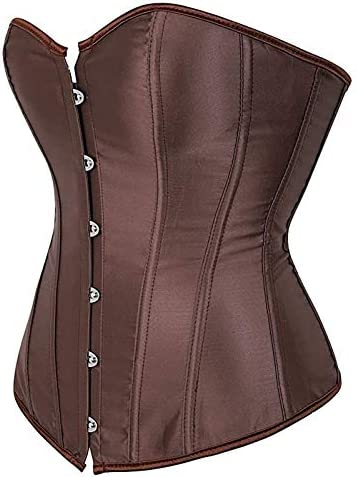 Corsets for Women Plus Size Faux Leather Zipper Front Bustier Corset Top Vintage Shapewear Lace product image