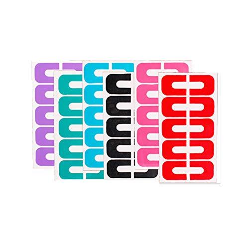 Wansan 6 Pack 60 Piece Reusable Soft Plastic Nail Protector to Keep Polish Cover Shield Protector Nail Polish Glue Overflow Preventing Tool - Random Color