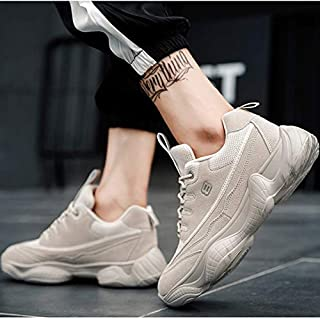 YKDY Round Head Breathable Lace-up Fashion Couple Casual Shoes