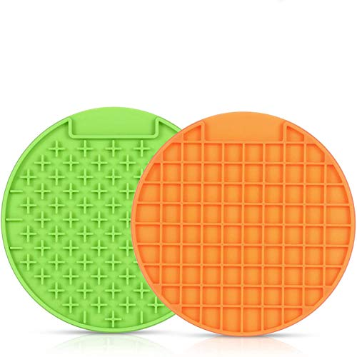 Jihan Pet Lick Mat for Dogs, Pet Lick Mat, Slow Feeder Lick Mat Boredom Distraction Anxiety Relief Peanut Butter Lick Pad Promotes Health