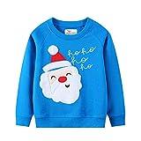 Eulla Sudadera de Navidad para bebé de 1 a 7 años #5 Weihnachtsmann 4 años