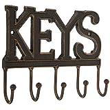 Colgador de llaves para pared – Colgador de Llaves – Llavero decorativo de hierro fundido – Colgador de llaves de metal clásico – Colgador de Llaves – Organizador de llaves decorativo con 5...