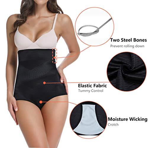 High Waist Briefs for Women Tummy Control Shapewear Panties Seamless Slimming Underwear … B07XGPVN3L Black