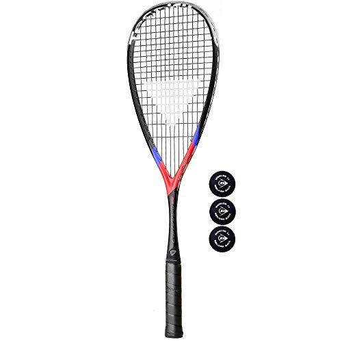 Tecnifibre Carboflex X-Speed 125 - Raqueta de Squash + 3 Pelotas de Squash Dunlop Pro