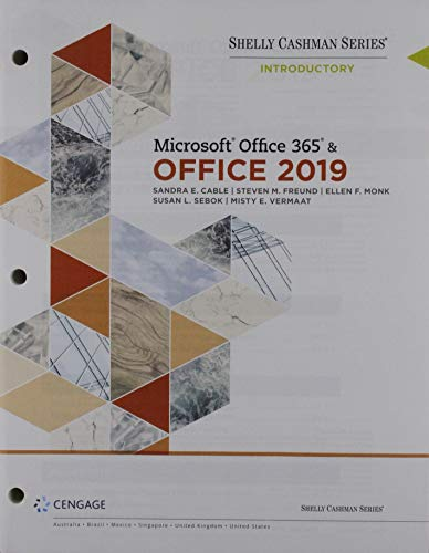 Bundle: Shelly Cashman Series Microsoft Office 365 & Office 2019 Introductory, Loose-leaf Version + Technology for Success: Computer Concepts, ... Microsoft Office 365 & Office 2019, 1 te