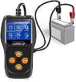 KW600 Tester per batteria automobilistica 12V Tester per carico batteria automatico Auto 100-2000CCA Analizzatore di carico batteria auto e tester alternatore per auto, barca, moto