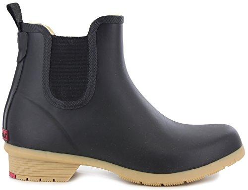 Chooka Women's Bainbridge Fleece Lined Chelsea Bootie Boot, Black, 8 M US