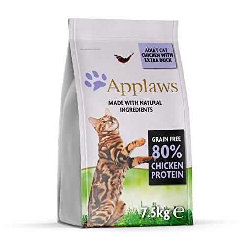 Applaws Katze Trockenfutter Adult Huhn & Ente, 1er Pack (1 x 7,5 kg)