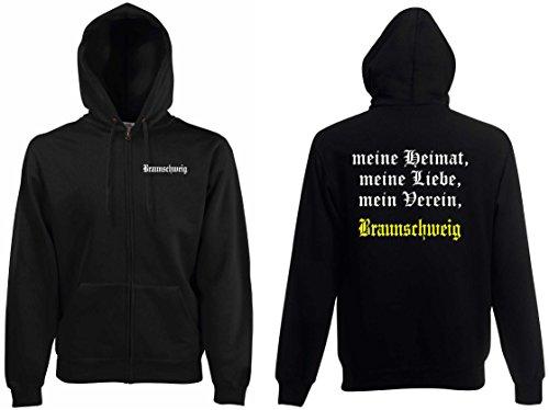 world-of-shirt Herren Kapuzenjacke Braunschweig Ultras Meine Heimat