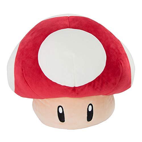 Red Mushroom Mocchi Mocchi (Large), das Nintendo Mario Kart Mocchi Mocchi Plüsch Spielzeug Kissen in 40cm Größe. Perfekt für das Kinderzimmer oder Sofa, Kinder ab 3 Jahren und Nintendo-Fans