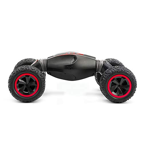 Tagke Four-Wheel Drive Off-Road Vehicle Remote Control Car 3-10 Years Old Stunt Twisted Car Charging Climbing Drift Children Toy Car Boy (Color : B, Size : Double Battery)