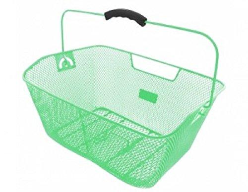M-Wave Fahrradkorb Korb Drahtkorb für Fahrrad Gepäckträger (grün)