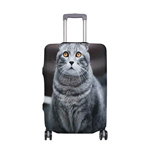 IUBBKI Funda de Equipaje de Viaje Dark Cat Protector de Maleta Fundas de Equipaje Lavables FitSch