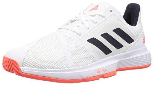adidas CourtJam Bounce M, Zapatillas de Tenis Hombre, FTWBLA/Tinley/Rojsol, 45 1/3 EU