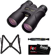 Nikon 16003 10x42 ProStaff 7S Binoculars All-Terrain Waterproof and Fogproof (Black) Bundle with Lens Harness & Case