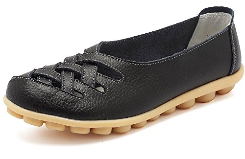 Eagsouni Damen Mokassins Bootsschuhe Leder Loafers Schuhe Flatschuhe Halbschuhe Flache Fahren Halbschuhe Slippers