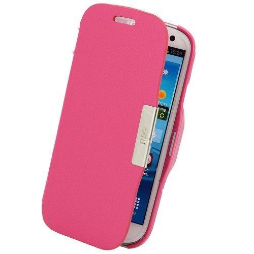 plt24 Flip Cover Schutzhülle #58 Pink Samsung Galaxy S3 i9300 Hülle Hülle Tasche Etui
