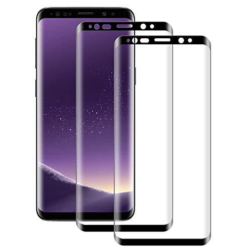 NUOCHENG Verre Trempé Samsung Galaxy S8 Vitre HD Film Protection écran,[2 Pièces] Couverture Complète,Anti Rayures,sans Bulles Protecteur d'écran pour Samsung Galaxy S8 9H 0.33mm