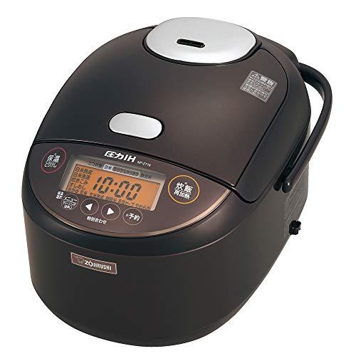 象印 炊飯器 1升 (10合) 圧力IH式 極め炊き 黒まる厚釜 保温30時間 早炊き28分 ダークブラウン NP-ZT18-TD