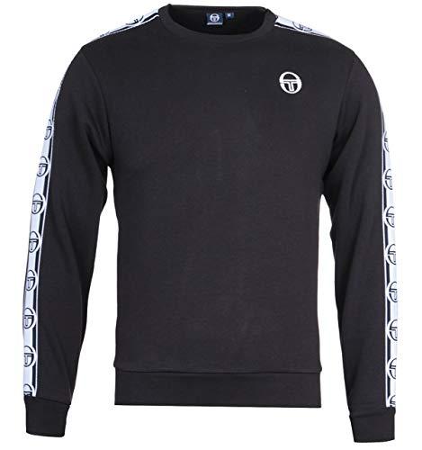 Sergio Tacchini Delaco Crew Neck Sweat Shirt   Black/White Small