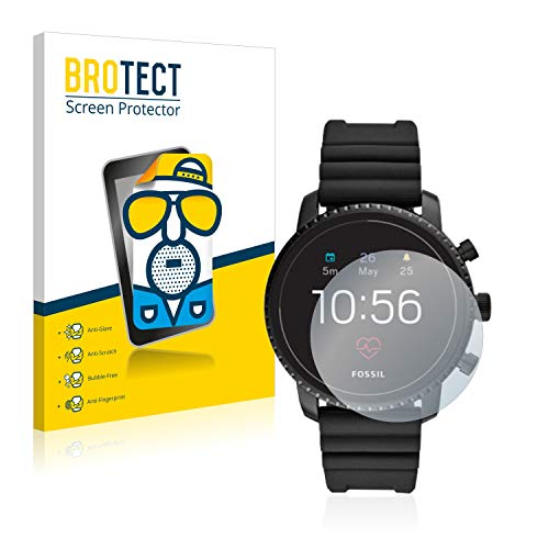 BROTECT 2X Entspiegelungs-Schutzfolie kompatibel mit Fossil Q Explorist HR (4.Gen) Bildschirmschutz-Folie Matt, Anti-Reflex, Anti-Fingerprint